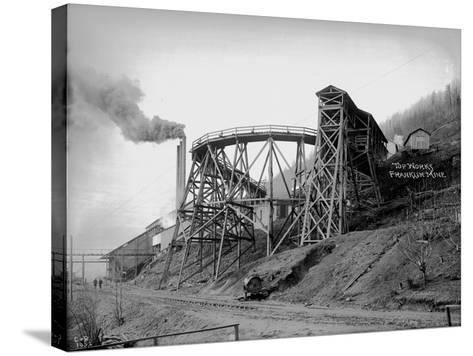 Topworks Franklin Mine, 1902-Asahel Curtis-Stretched Canvas Print