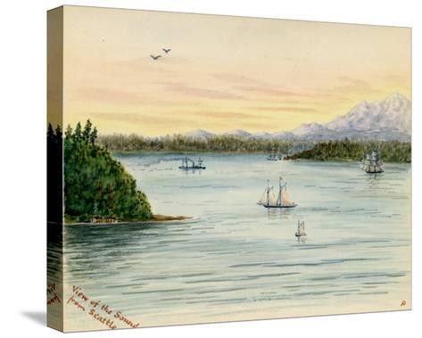 View of the Sound From Seattle-Alfred Downing-Stretched Canvas Print