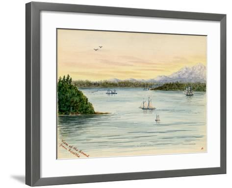 View of the Sound From Seattle-Alfred Downing-Framed Art Print