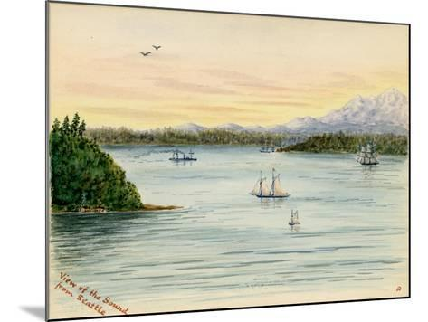 View of the Sound From Seattle-Alfred Downing-Mounted Giclee Print