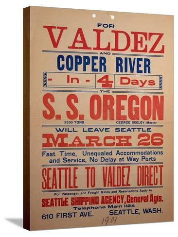 """""""For Valdex and Copper River"""", 1901--Stretched Canvas Print"""