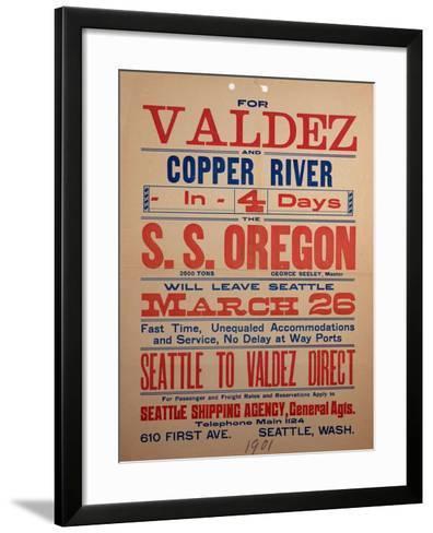 """For Valdex and Copper River"", 1901--Framed Art Print"
