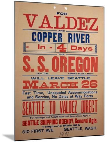 """""""For Valdex and Copper River"""", 1901--Mounted Giclee Print"""