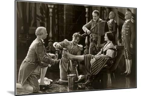 Nobility Pouring Champagne over Woman's Foot--Mounted Art Print