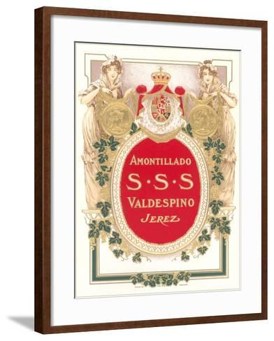 Sherry Label--Framed Art Print