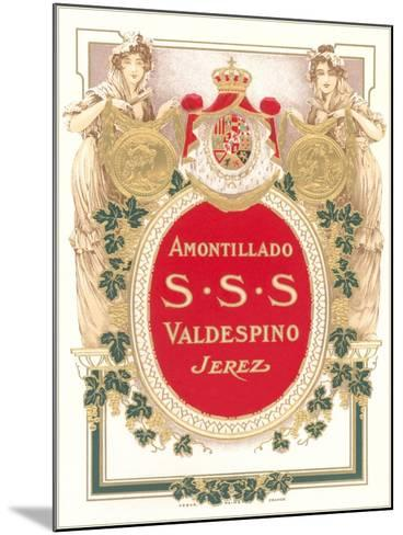 Sherry Label--Mounted Art Print