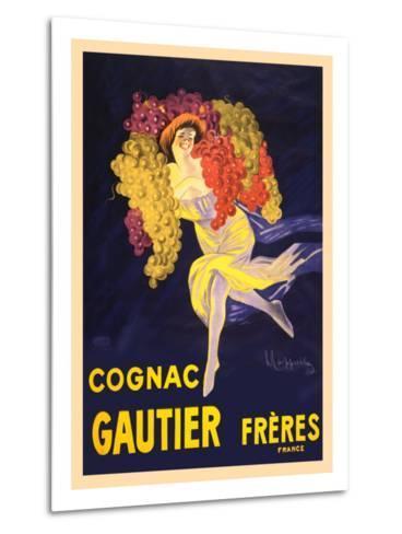 Advertisement for Cognac Gautier Freres--Metal Print