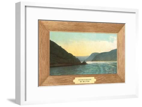 Hudson River Painting by Milton--Framed Art Print