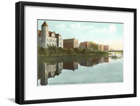 Post Office, Binghamton, New York--Framed Art Print