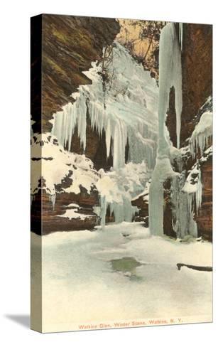 Winter, Watkins Glen, New York--Stretched Canvas Print