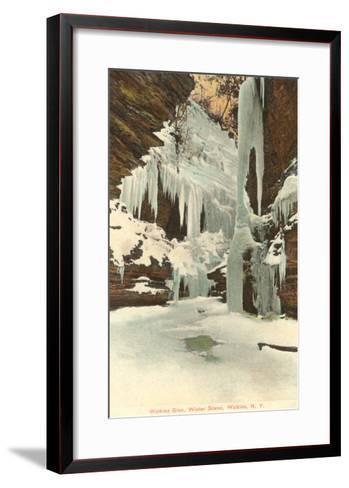 Winter, Watkins Glen, New York--Framed Art Print