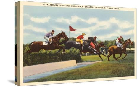 Steeple Chase, Saratoga Springs, New York--Stretched Canvas Print