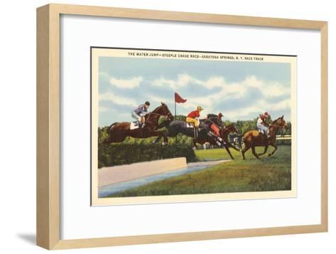 Steeple Chase, Saratoga Springs, New York--Framed Art Print
