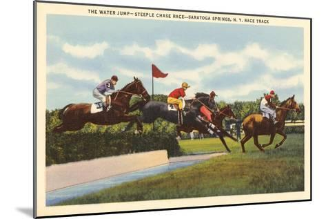 Steeple Chase, Saratoga Springs, New York--Mounted Art Print