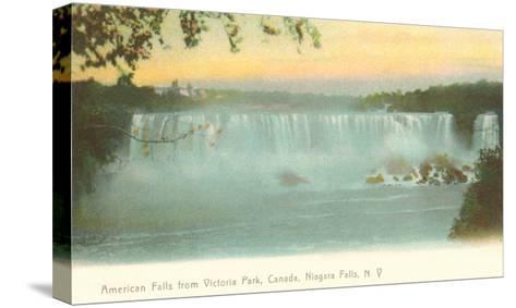 American Falls, Niagara Falls, New York--Stretched Canvas Print