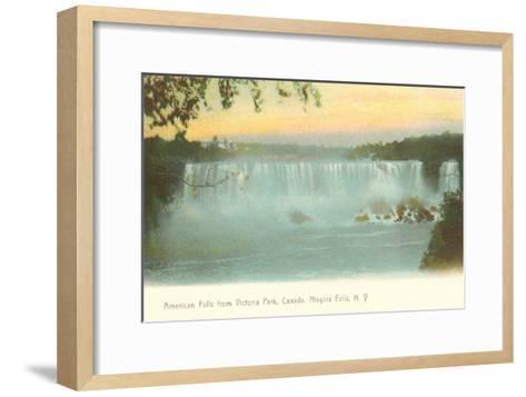 American Falls, Niagara Falls, New York--Framed Art Print