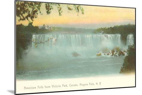 American Falls, Niagara Falls, New York--Mounted Art Print