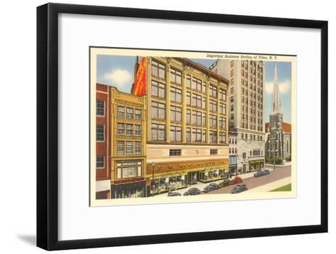 Business District of Utica, New York--Framed Art Print