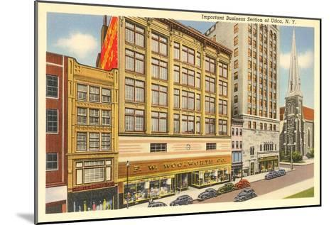 Business District of Utica, New York--Mounted Art Print