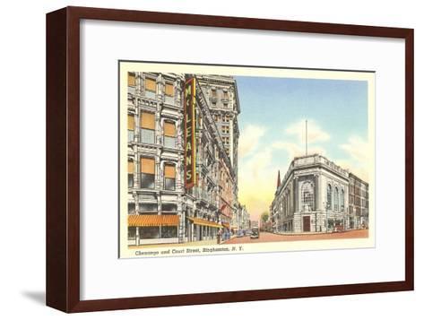 Chenango and Court Streets, Binghamton, New York--Framed Art Print