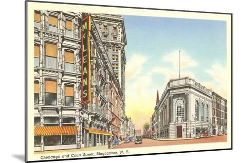Chenango and Court Streets, Binghamton, New York--Mounted Art Print