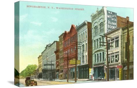 Washington Street, Binghamton, New York--Stretched Canvas Print