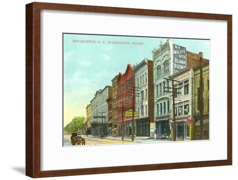 Washington Street, Binghamton, New York--Framed Art Print