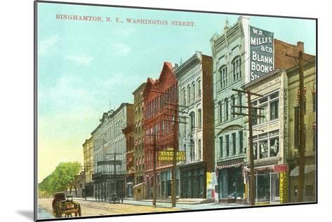 Washington Street, Binghamton, New York--Mounted Art Print