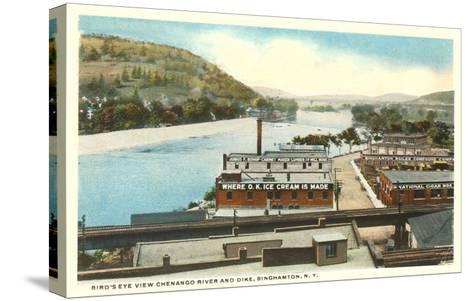 Chenango River, Binghamton, New York--Stretched Canvas Print