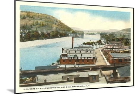 Chenango River, Binghamton, New York--Mounted Art Print