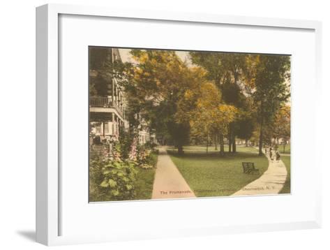 Promenade, Chautauqua, New York--Framed Art Print