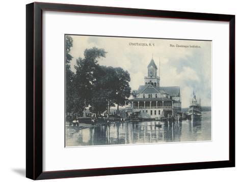 Pier, Chautauqua, New York--Framed Art Print