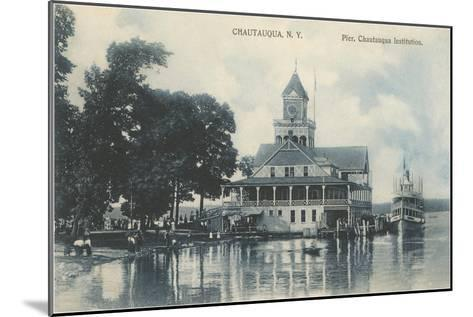 Pier, Chautauqua, New York--Mounted Art Print