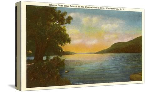 Otsego Lake, Susquehanna River, New York--Stretched Canvas Print