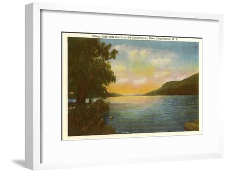 Otsego Lake, Susquehanna River, New York--Framed Art Print