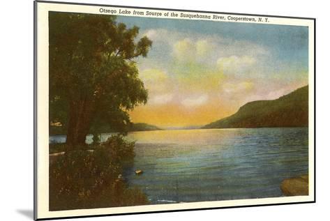 Otsego Lake, Susquehanna River, New York--Mounted Art Print