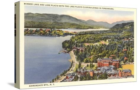 Mirror Lake, Lake Placid, New York--Stretched Canvas Print