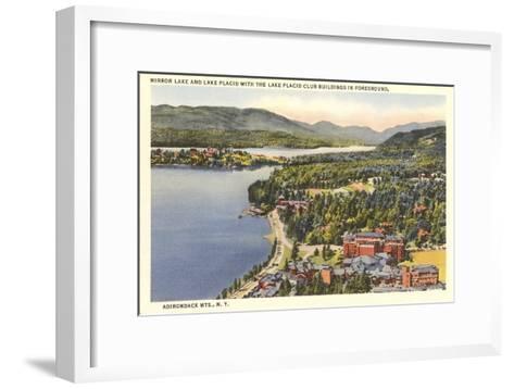 Mirror Lake, Lake Placid, New York--Framed Art Print
