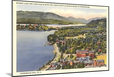 Mirror Lake, Lake Placid, New York--Mounted Art Print