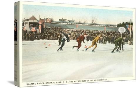 Speed Skating Races, Saranac Lake, New York--Stretched Canvas Print