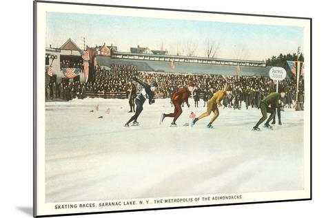 Speed Skating Races, Saranac Lake, New York--Mounted Art Print
