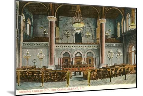 Interior, State House, Albany, New York--Mounted Art Print