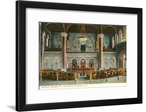 Interior, State House, Albany, New York--Framed Art Print