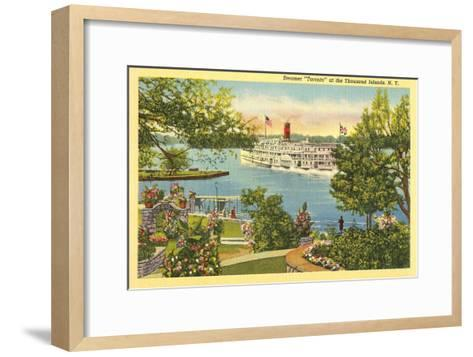Steamer, Thousand Islands, New York--Framed Art Print