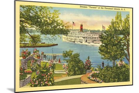 Steamer, Thousand Islands, New York--Mounted Art Print