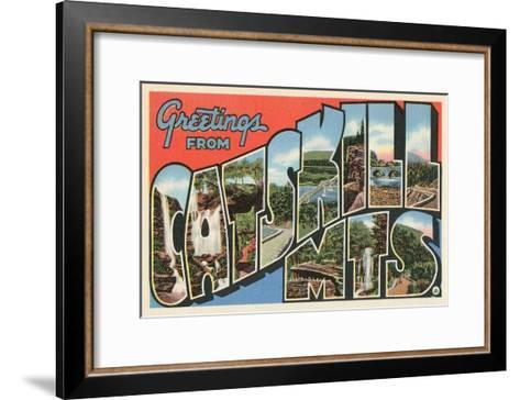 Greetings from the Catskill Mountains, New York--Framed Art Print