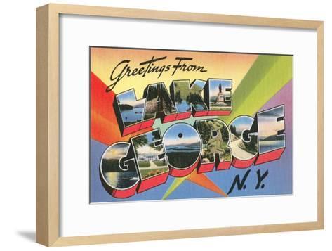 Greetings from Lake George, New York--Framed Art Print