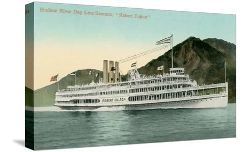 Robert Fulton Steamer on the Hudson River--Stretched Canvas Print