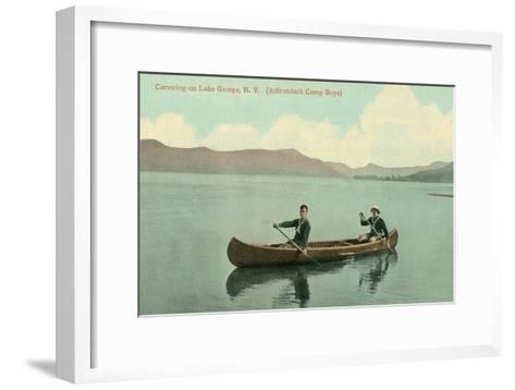 Canoing on Lake George, New York State--Framed Art Print