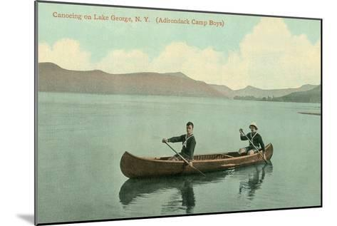 Canoing on Lake George, New York State--Mounted Art Print